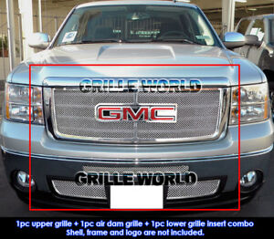 Aps Fits 07 12 2011 2012 Gmc Sierra 1500 New Body Style Mesh Grille Combo Insert