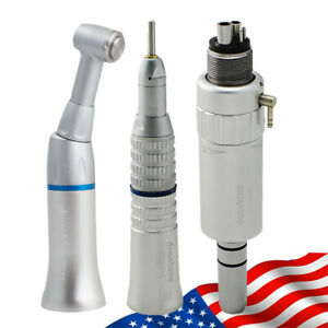 Dental Slow Low Speed Handpiece Straight Contra Angle Motor E type 4hole