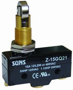 Suns Z 15gq21 Panel Mount Cross Roller Plunger 15a Micro Switch