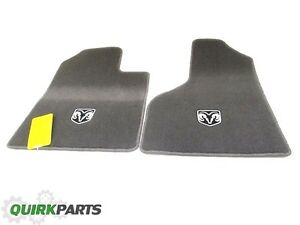 06 08 Dodge Ram 1500 Front Set Of 2 Carpeted Floor Mats Dark Khaki Mopar Oem New