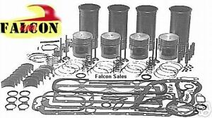 Mazda Fe Engine Kit Gas Hyster Yale Forklift 2 0 1998cc Pistons Gaskets Bearings
