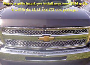07 2013 Chevy Silverado 1500 Chrome Mesh Grille Grill Insert Bentley Mesh