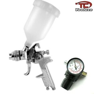 1 4mm Hvlp Air Paint Spray Gun W Gauge Auto Painting Automotive Shop Tool 31218