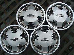 Chevy Chevrolet S 10 Blazer Malibu Pickup Truck Hubcaps Wheel Covers 14 In