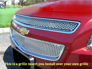 Chevy Malibu Chrome Mesh Grille Insert Overlay Bentley Grill 08 2012