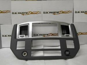 New 06 09 Dodge Ram Radio Dash Bezel Slate Gray New Mopar Oem Oe 5ks701dhab