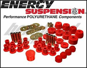 Energy Suspension 5 18102r Complete Master Bushing Kit Dodge W100 W200 W300 4wd