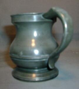 Small Antique Pewter Measure Tankard Mug 19th Century 1800 S