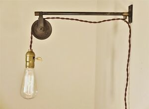 Vintage Industrial Pulley Sconce Wall Mount Pendant Machine Age Trouble