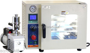 Ai 0 9 Cf 5 Sided Vacuum Oven With Easyvac 9 Cfm 2 stage Pump 2 yr Warranty
