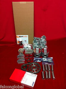 Ford 6 Deluxe Engine Kit 1947 48 49 50 51 226 95hp Pistons Gaskets Bearings