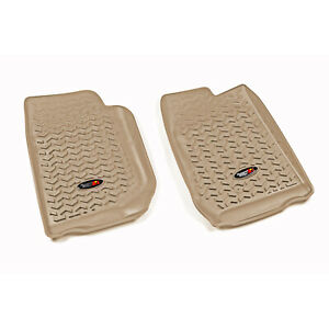All Terrain Front Floor Mats Pair Tan For Jeep Wrangler Jk 2007 2018 13920 01