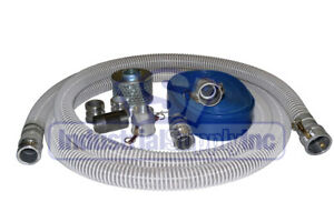 2 Flex Mud Water Suction Hose Kit W 75 Blue Discharge Hose
