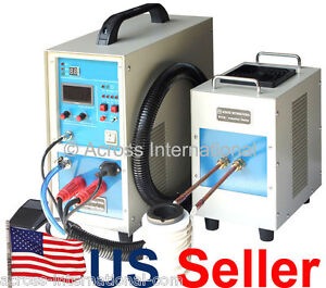 15kw 30 80khz Dual Station Solid State Induction Heater Heating Melting Furnace