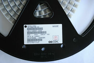 Sanyo Oscon Capacitor 330uf 16v 16svp330m Surface Mount Rohs 400 reel 295 Each