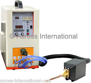 6 6kw 600 1100khz Hi freq Solid State Compact Induction Heater Melting Furnace