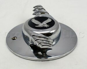 Roadster Wire Wheel Chrome Center Spinner Cap New