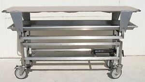 Thermo Shandon 825 S s Mortuary Morgue Transport Cart Elevating Cadaver Carrier