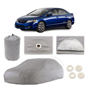 Honda Civic 4 Layer Car Cover Fitted In Out Door Water Proof Rain Snow Sun Dust