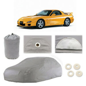 Mazda Rx 7 4 Layer Car Cover Fitted In Out Door Water Proof Rain Snow Sun Dust