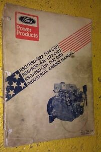 Ford Rsg rsd 422 Rsg rsd 428 Rsg rsd 431 Industrial Engine Manual 194 114