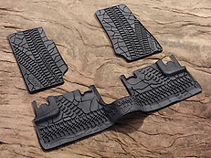2007 2013 Jeep Wrangler Unlimited Jk 4 Door Mopar Rubber Slush Floor Mats Mat
