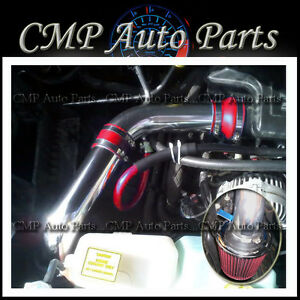 Red 2002 2008 Dodge Ram 1500 5 7 5 7l V8 Cold Air Intake Kit Induction Systems