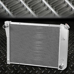 3 Row Tri Core Aluminum Racing Radiator 71 87 Chevy Buick Small Block Sbc L6 V6