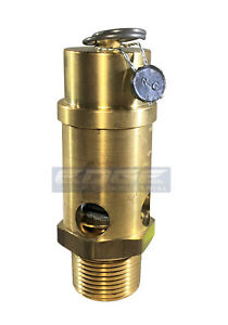 1 Inch Brass Air Compressor Safety Relief Pop Off Valve 225 Psi