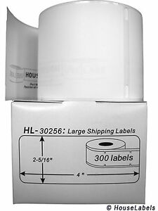 25 Rolls Of 300 Large Ship Labels In Mini cartons For Dymo Labelwriters 30256