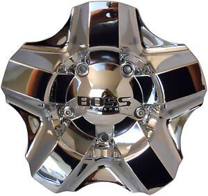 Boss Motorsports 333 Wheel Rim Center Cap Acc 3240 06 Screw On Chrome