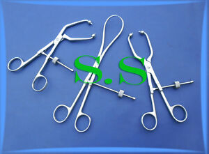 3 Assorted Reduction Forceps Surgical Orthopedic Instruments
