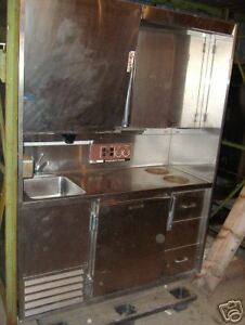 Used Stainless Mini Kitchen Cooler Stove Ice Maker Machine