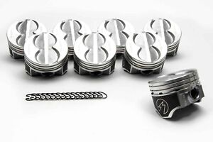 Speed Pro Ford 289 302 Flat Top Hypereutectic Coated Pistons Set 8 9 0 1 030