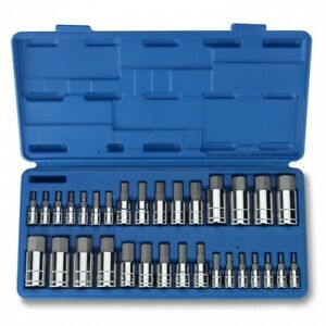 32pc Master Hex Bit Socket Set Sae Metric Automotive Shop Tools Must Have Tool
