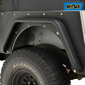 Eag 87 96 Jeep Yj Wrangler Rear Fender Flares With Hardware Armor 3