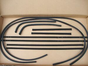 1950 1951 50 51 Ford Woody Wagon Rear Sliding Glass Wisker Kit Antirattler New