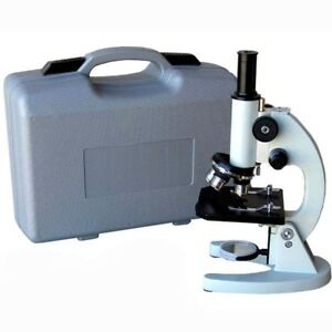 Amscope 40x 640x Metal Body Glass Lens Biology Student Microscope With Abs Case