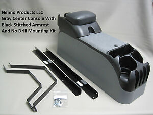 P71 Gray Center Console With Black Armrest Mounting Kit Crown Victoria Police