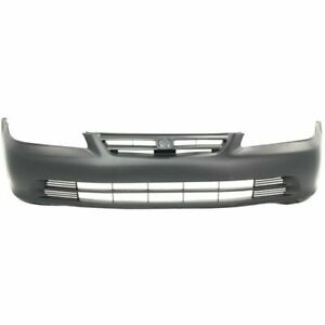 Front Bumper Cover For 2001 2002 Honda Accord Sedan Primed Plastic