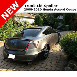 For Honda Accord Coupe 08 12 Abs Trunk Rear Wing Spoiler Unpainted Smooth Primer