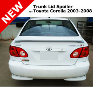 Toyota Corolla 03 08 Abs Trunk Deck End Rear Lip Spoiler Unpainted Smooth Primer