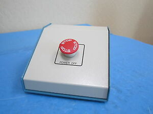 Epo Operator Panel Console Main Power Off Stop Push Button Red