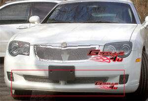 Fits 2004 2008 Chrysler Crossfire Lower Bumper Stainless Mesh Grille