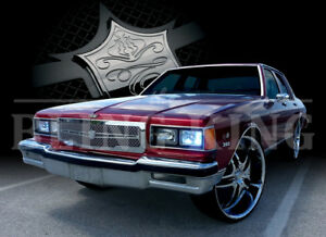 1986 1990 Chevy Caprice Chrome Mesh Grille Grill Dual Weave Bentley Mesh 1pc