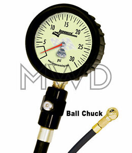 Deluxe Longacre Glow Tire Air Pressure Gauge 0 30 Psi 2 5 Imca Modified 50422
