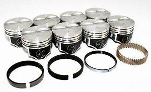 Sealed Power Ford 289 302 4 040 Flat Top Pistons Moly Rings Kit Sbf H273cp40