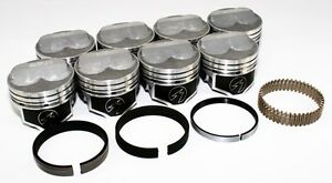 Sealed Power Chevy 350 4 040 275 Domed Pistons Moly Rings Kit Sbc H617cp40