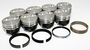 Sealed Power Chevy 350 4 060 Flat Top 2 Vr Pistons Moly Ring Kit Sbc H631cp60
