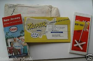 Aaa Triptik Map From Queens New York To Sparrow Bush New York 1953 W 2 Maps